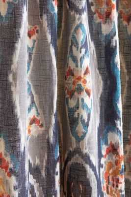 """Stretched Ikat Curtain - 96"""" L x 50"""" W - multi - Anthropologie"""