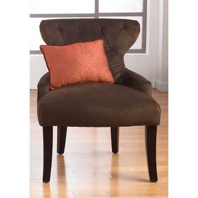 Curves Hour Glass Easy Care Fabric Accent Chair - Overstock