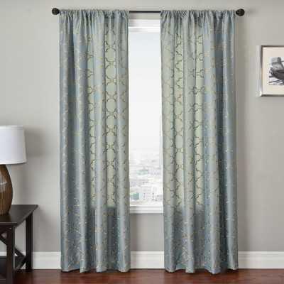 "Basso Curtain Panel in Antique Blue - 120""L x 54""W - Wayfair"
