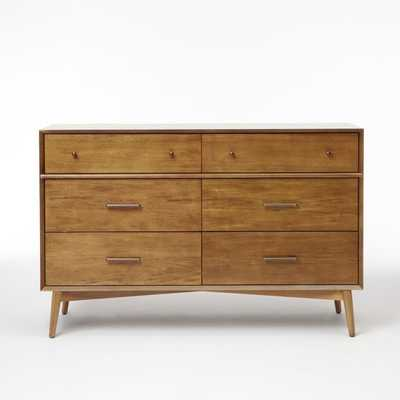Mid Century 6 Drawer Dresser - Acorn - West Elm