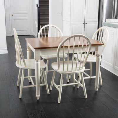Spindle Wood Dining Set with Leaf Extension - Overstock