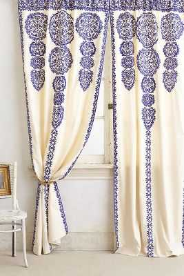 Marrakech Curtain - Green - Anthropologie