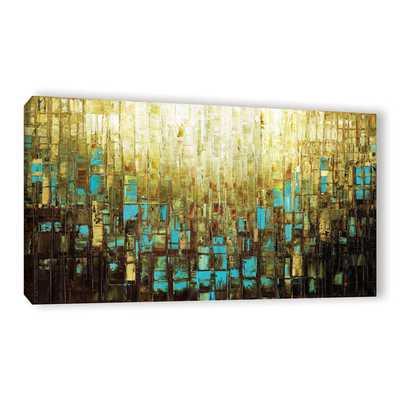 "ArtWall Susanna Shaposhnikova's Abstract Neutral 2, Gallery Wrapped Canvas - 24"" x 48"" - Overstock"