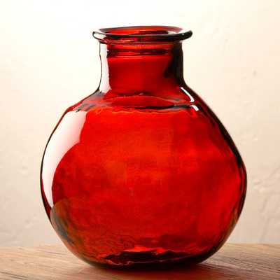 "Oval Recycled Glass Balloon Vase, 12"" - vivaterra.com"