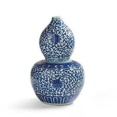 Small Chinoiserie Double Gourd Vase - Frontgate