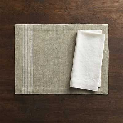 Easton White Stripe Placemat - Crate and Barrel