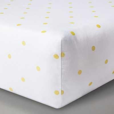 "Circoâ""¢ Woven Fitted Crib Sheet - Gold Dots - Target"