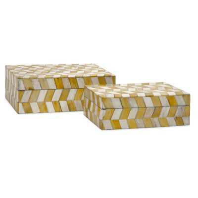 Essentials 2 Piece Bone Box Set-Mellow Yellow - AllModern