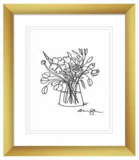 "Alanna Cavanagh, Ranunculus Bouquet II - 11"" x 13"" - Framed - One Kings Lane"