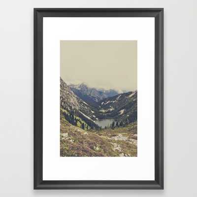 "FRAMED ART PRINT/ SCOOP BLACK SMALL (15"" X 21"") - Society6"