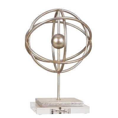 Silver Orb Finial Statue - AllModern