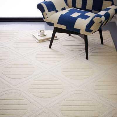 Roar + Rabbit Graphic Texture Rug - Ivory - West Elm