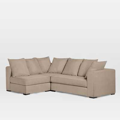 Walton Right Facing 3-Piece Sectional - Linen Weave, Natural - West Elm