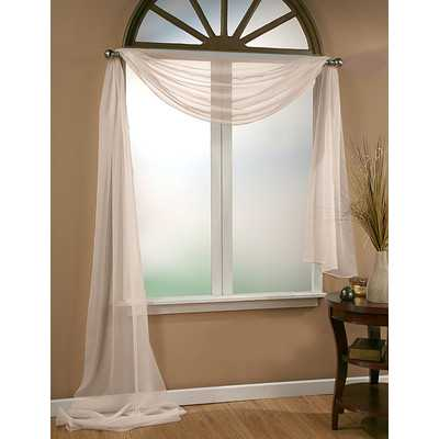 Infinity Sheer Window Scarf Polyester Curtain Valance - Wayfair