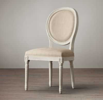 VINTAGE FRENCH SIDE CHAIR - Belgian Linen, Sand - RH