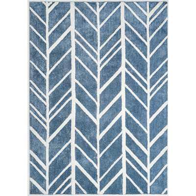 """Hand-Tufted Blue/Ivory Area Rug-8""""x10"""" - Wayfair"""