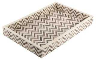 Chevron Tray, Gray - One Kings Lane