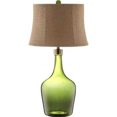 Trent Glass 1-light Green Table Lamp - Overstock