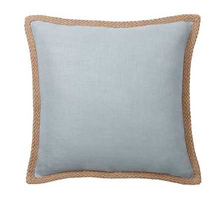 "Jute Braid Pillow Cover, 20""sq., no insert - Pottery Barn"