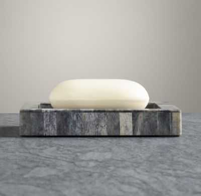 BONE GREY SOAP DISH - RH