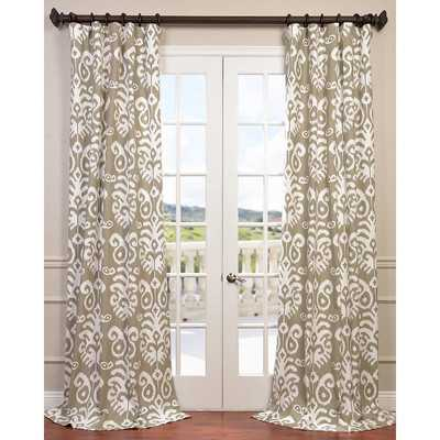 Sri Lanka Twill Single Curtain Panel - Wayfair