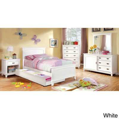 Kennedy Transitional Platform Youth Bed - Twin - White - Overstock