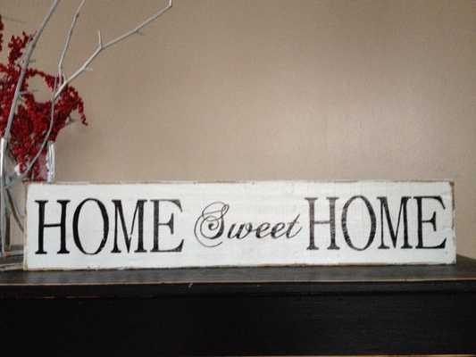 "Lovely Handmade ""home sweet "" sign - Etsy"