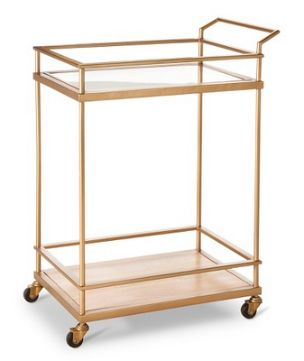 "Thresholdâ""¢ Bar Cart - Gold - Domino"