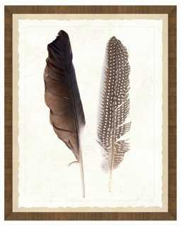 Natural Feathers Print II - One Kings Lane