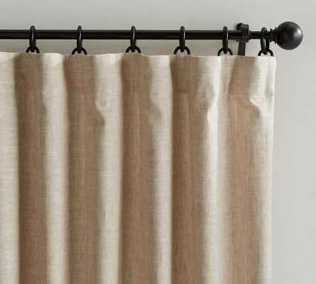 "Emery Linen/Cotton Drape-50 X 84"" - Pottery Barn"