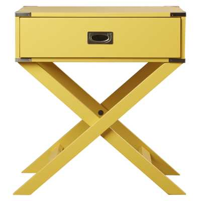 Neptune Campaign 1 Drawer End Table - Wayfair