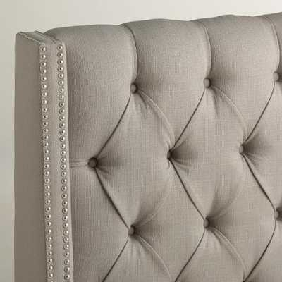 Textured Woven Kellerman Upholstered Headboard - World Market/Cost Plus