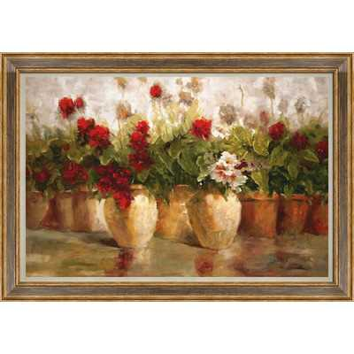 "Potted Floral Framed Painting Print - 28.5"" H x 40.5"" W - Wayfair"