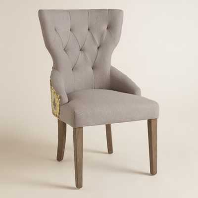 Green Daltrey Geo and Linen Maxine Dining Chair - World Market/Cost Plus