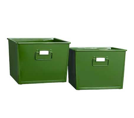 Metal Storage Set - Green - Pottery Barn Kids