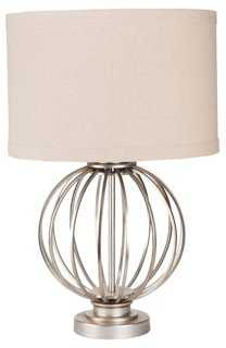 Theresa Table Lamp, Silver - One Kings Lane