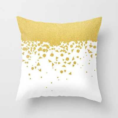 Gold Confetti Pillow - 18x18 - With Insert - Indoor - Society6