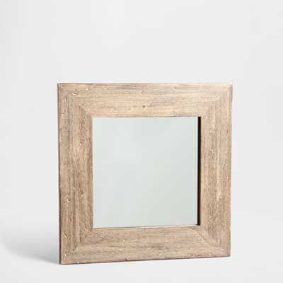 WOODEN MIRROR WITH ANTIQUE FINISH - Zara Home