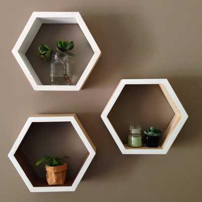 Pine Hex shelf - Etsy