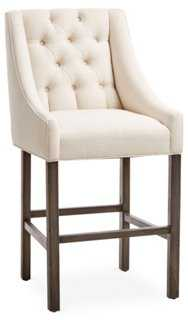 Camilla Tufted Barstool, Sand - One Kings Lane