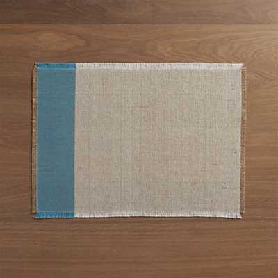 Roscoe Teal Placemat - Crate and Barrel