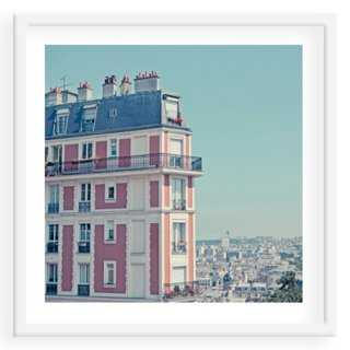"Apartment with a View, Paris - 24"" x 24"" - Framed - One Kings Lane"
