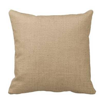 """Faux Burlap Pillow 16"""" x 16"""" with insert - zazzle.com"""