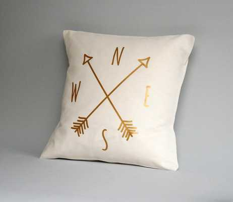 Compass Pillow cover - Etsy