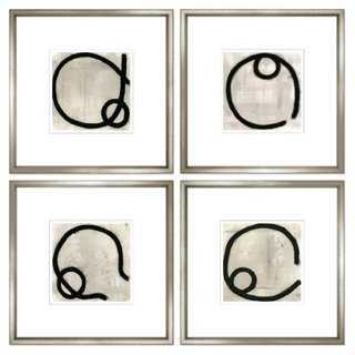 "Felix Lucas, Charcoal Abstract-24"" -Framed - One Kings Lane"