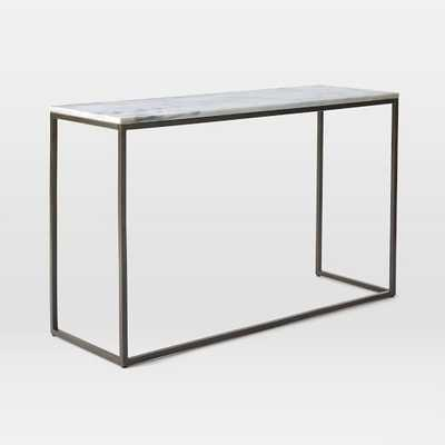 Box Frame Console - Marble/Antique Bronze - West Elm