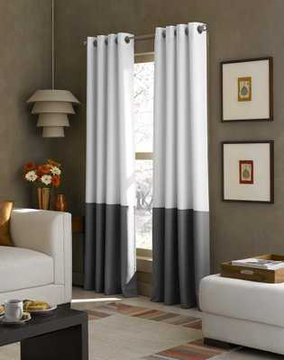 Kendall Color Block Grommet Curtain Panel - curtainworks.com