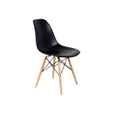 The Mid Century Eiffel Side Chair - Black - Wayfair