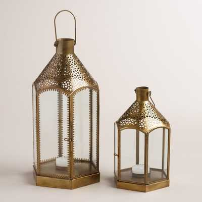 Clear Glass and Metal Lantern - World Market/Cost Plus