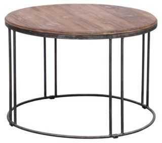 Alabama Round Coffee Table, Ash Natural - One Kings Lane